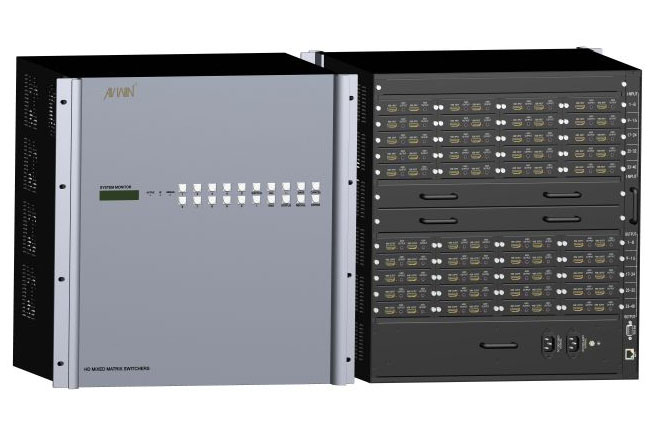 KS-40MIX 40 channels HD modular matrix chassis with Plug-in function
