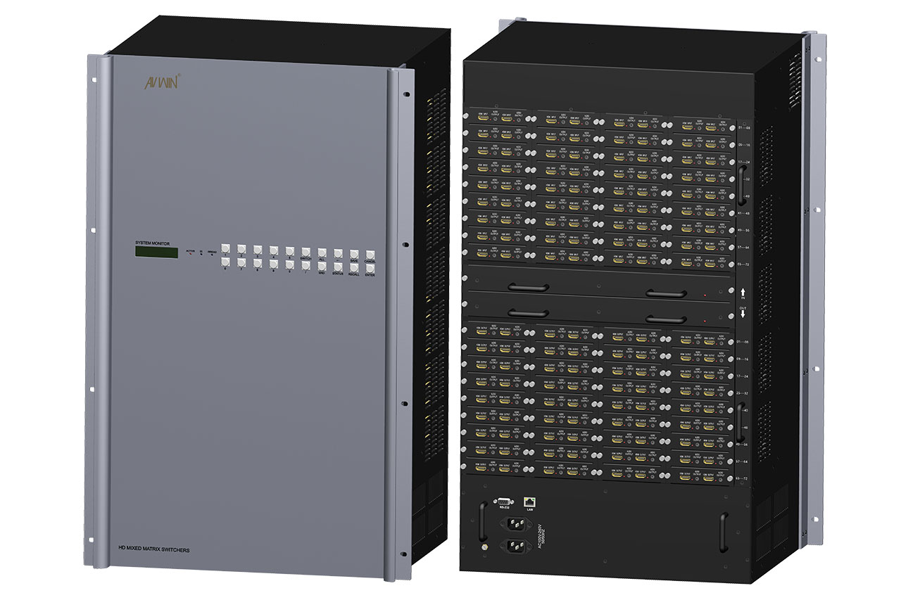 KS-72MIX 72x72 HD modular matrix chassis with Plug-in function